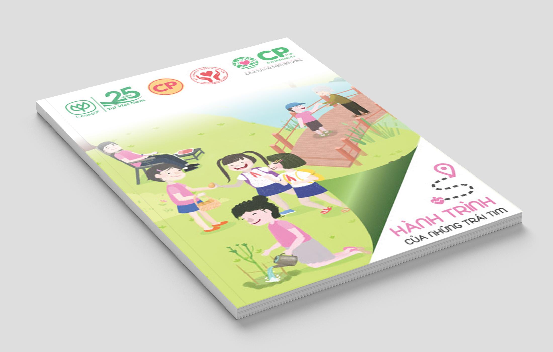 Thiết kế báo cáo hoạt động trách nhiệm cộng đồng CSR Booklet